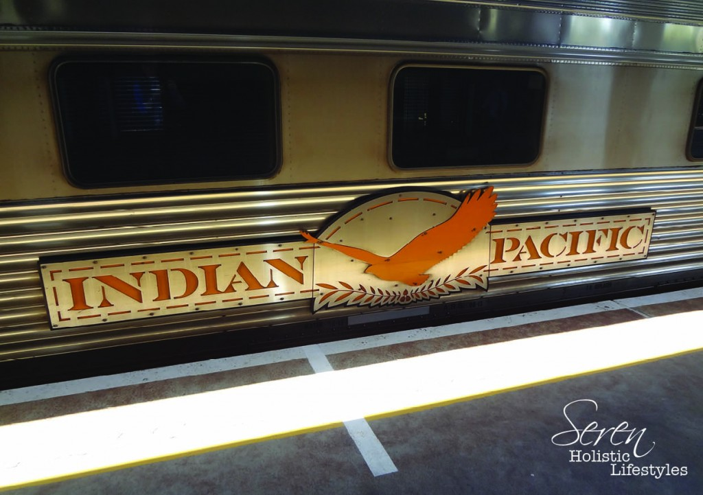 The Indian Pacific Train ready to leave.