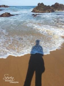 Shadow sea waves